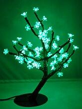 LED Aussenleuchte Gartenleuchte Baum 196-flammig grün, Metall Fuss und transparente Kunststoffblüte, Dekorationsleuchte