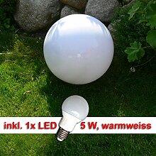 LED Außenleuchte Kugelleuchte Marlon D40cm mit Erdspieß und inklusive LED Leuchtmittel 5Wa