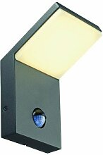 LED Außenleuchte ORDI Wandleuchte, anthrazit, 120°, SMD LED, 3000K, IP44, mit Sensor EEK: A++ - A