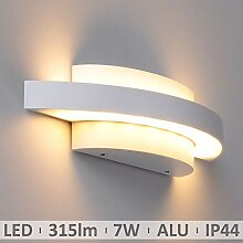 LED Aussenleuchte up&down weiß 7W warmweiß IP44