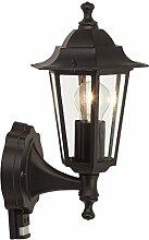 LED Außenleuchte Wandlampe Bewegungsmelder E27 Brilliant Holmes HK15493A06