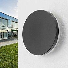 LED Außenleuchte Wandleuchte schwarz 2x3Watt 3000