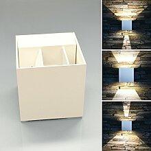 LED Außenwabdleuchte weiß up&down mit