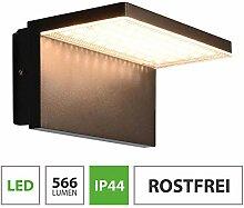 LED Außenwandleuchte 10W warmweiß schwarz