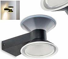 LED Außenwandleuchte Aluminium in Anthrazit –