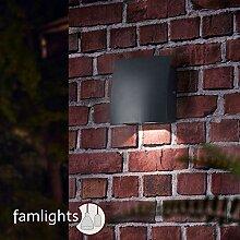 LED Außenwandleuchte aus Aluminium, Anthrazit,