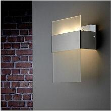LED Außenwandleuchte IP44 Glas satiniert inkl.