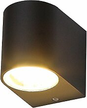 LED-Außenwandleuchte schwarz | Wandlampe GU10