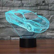 LED Auto 3D Lampe 7 Farbwechsel LED Nachtlicht 3D