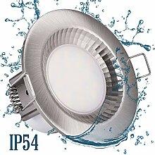LED Bad Dusche 230V Einbaustrahler IP54 rund