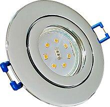 LED Bad Einbauleuchten 230V inkl. 2 x 7W SMD Modul