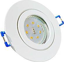LED Bad Einbauleuchten 230V inkl. 7 x 7W SMD LM