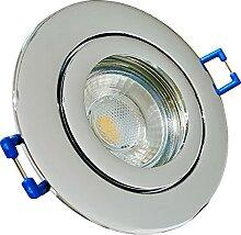 LED Bad Einbaustrahler 12V inkl. 10 x 5W LED LM