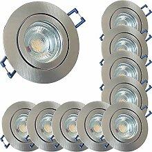 LED Bad Einbaustrahler 230V inkl. 10 x 3W LED LM
