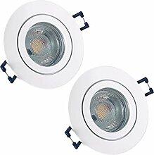 LED Bad Einbaustrahler 230V inkl. 2 x 3W LED LM