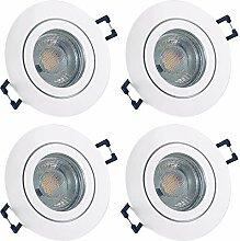 LED Bad Einbaustrahler 230V inkl. 4 x 7W LED LM