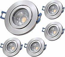 LED Bad Einbaustrahler 230V inkl. 5 x 5W LED Modul