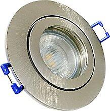 LED Bad Einbaustrahler 230V inkl. 6 x 5W MCOB