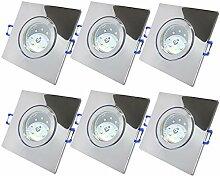 LED Bad Einbaustrahler 230V inkl. 6 x 5W SMD Modul