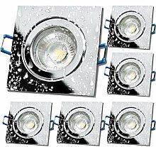 LED Bad Einbaustrahler 230V inkl. 6 x 7W LED LM