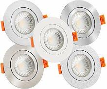 LED Bad-Einbaustrahler Aluminium rund 230V | IP44