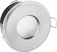LED Bad Einbaustrahler IP65 Edelstahl Optik rund