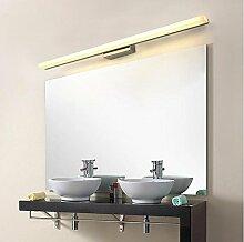 Led Bad Spiegel vorne Lampe moderne einfache Edelstahl wasserdicht Anti-fog Spiegel Schrank Spiegel Licht Feuchtigkeit WC Make-up Lichter ( Farbe : 100CM-warm light )