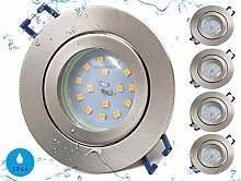 LED Badeinbaustrahler ultra flach inkl. 5x 5W LED
