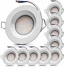LED Badezimmer Einbaustrahler 230V Flach IP54 LED