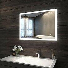 LED Badezimmerspiegel Wandspiegel Rund 60cm