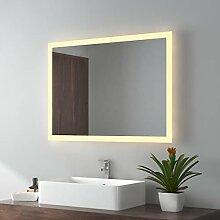LED Badspiegel 80x60cm Badspiegel mit Beleuchtung