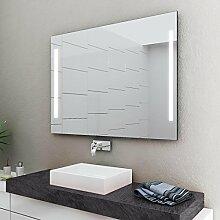 LED Badspiegel Badezimmerspiegel mit Beleuchtung ENJOY 120 cm Breit x 80 cm Hoch Licht LINKS+RECHTS