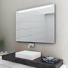 LED Badspiegel Badezimmerspiegel mit Beleuchtung ENJOY 120 cm Breit x 70 cm Hoch Licht OBEN