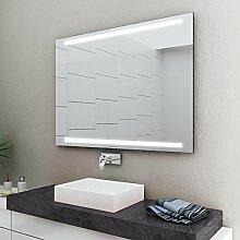 LED Badspiegel Badezimmerspiegel mit Beleuchtung ENJOY 45 cm Breit x 60 cm Hoch Licht OBEN+UNTEN
