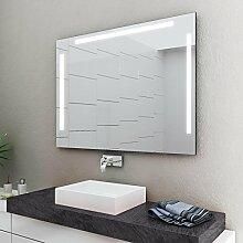 LED Badspiegel Badezimmerspiegel mit Beleuchtung ENJOY 60 cm Breit x 90 cm Hoch Licht LINKS+OBEN+RECHTS