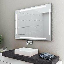 LED Badspiegel Badezimmerspiegel mit Beleuchtung ENJOY 60 cm Breit x 80 cm Hoch Licht LINKS+RECHTS+OBEN+UNTEN