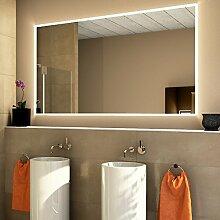 LED Badspiegel - Badezimmerspiegel mit LED Beleuchtung - Design LED Spiegel Lichtspiegel Wandspiegel Pilar (Breite: 180 x Höhe: 80 cm)