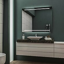LED Badspiegel Badezimmerspiegel Wandspiegel Bad Spiegel - 3000K Warmweiß 50 cm Breit x 50 cm Hoch Legato Licht oben & unten