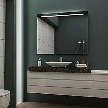 LED Badspiegel Badezimmerspiegel Wandspiegel Bad Spiegel - 3000K Warmweiß 120 cm Breit x 70 cm Hoch Legato Licht oben
