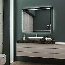 LED Badspiegel Badezimmerspiegel Wandspiegel Bad Spiegel - 4000K neutralweiß 130 cm Breit x 80 cm Hoch Legato Licht umlaufend
