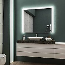 LED Badspiegel Badezimmerspiegel Wandspiegel Bad Spiegel - 4000K neutralweiß 100 cm Breit x 60 cm Hoch Andante Licht seitlich & oben