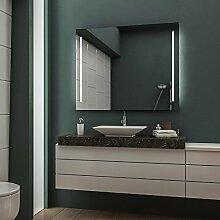 LED Badspiegel Badezimmerspiegel Wandspiegel Bad Spiegel - Warmweiß 100 cm Breit x 80 cm Hoch Legato Licht seitlich
