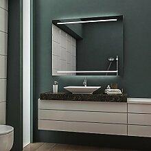 LED Badspiegel Badezimmerspiegel Wandspiegel Bad Spiegel - Warmweiß 90 cm Breit x 70 cm Hoch Legato Licht oben & unten