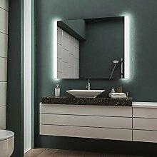LED Badspiegel Badezimmerspiegel Wandspiegel Bad Spiegel - Warmweiß 90 cm Breit x 60 cm Hoch Andante Licht seitlich