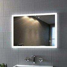 LED Badspiegel mit Beleuchtung 80x60 cm