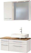 LED Badspiegel mit Waschtisch und Hängeschrank