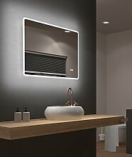 LED Badspiegel Talos Sun 80 x 70 cm, Warmweiß