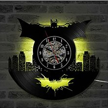 LED Batman Serie Vinyl Wanduhr Nachtlicht