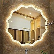 LED Beleuchtet Badezimmerspiegel, Silber