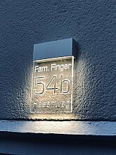 LED Beleuchtete Hausnummer Premium Line L 280mm
